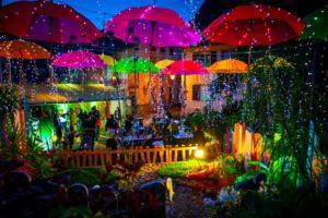image de masevaux de nuit pour le concours des plus beaux centre ville de France